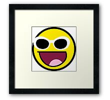 Awesome Grunge style Face  Framed Print
