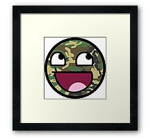 Awesome Camouflage Face Framed Print