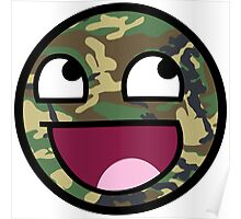 Awesome Camouflage Face Poster