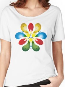 Colored Petals Women's Relaxed Fit T-Shirt