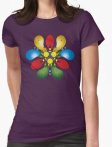 Colored Petals Womens Fitted T-Shirt