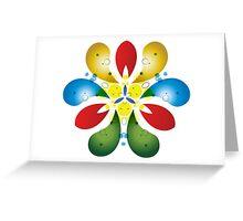 Colored Petals Greeting Card
