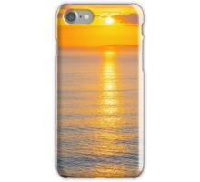 beautiful panoramic yellow sunset over loop head iPhone Case/Skin