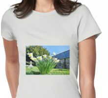 Daffodils At St Feock Church - Cornwall Womens Fitted T-Shirt