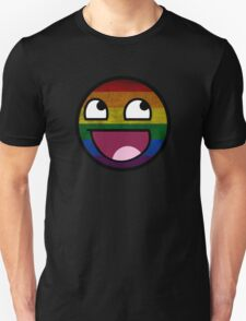 Awesome Funny MEME Face - Rainbow T-Shirt