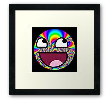 Awesome face - Trippy Framed Print