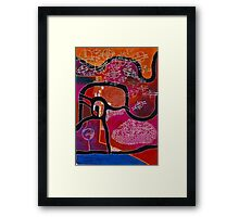 Elephant Maps or Google Maps Framed Print