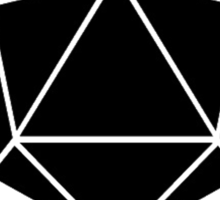 The Dice Giveth(Black) Sticker