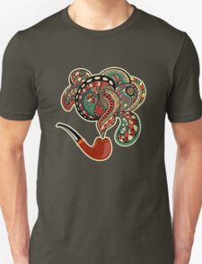 Pipe with smoke ornaments and curls T-Shirt