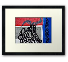 Laos Coffee Tattoo Framed Print