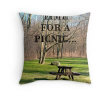 time for a picnic Throw Pillow