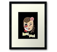 Beauty is Only Skin Deep (Black) Framed Print