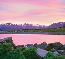 Sunrise Lake Tekapo by Dean Prowd Panoramic Photography