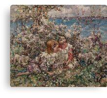 EDWARD ATKINSON HORNEL (1864-1933) Springtime 1930, Scotland Canvas Print