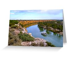 BIG BEND, RIVER MURRAY, SOUTH AUSTRALIA Greeting Card