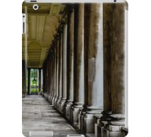The columns of the Old Naval College in Greenwich, London iPad Case/Skin