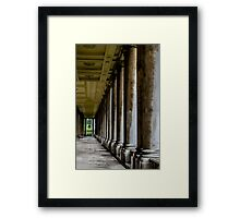 The columns of the Old Naval College in Greenwich, London Framed Print