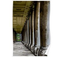 The columns of the Old Naval College in Greenwich, London Poster