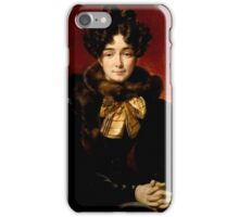 Emile Jean Horace Vernet - Portrait of a Lady (Possibly Mrs. Patrick Campbell, Nee Fitzgerald [1796-1869]) iPhone Case/Skin