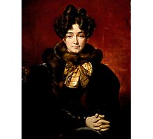 Emile Jean Horace Vernet - Portrait of a Lady (Possibly Mrs. Patrick Campbell, Nee Fitzgerald [1796-1869]) Photographic Print