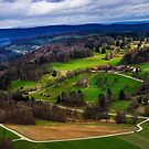 Aerial View of the Hills Near Zurich by JennyRainbow