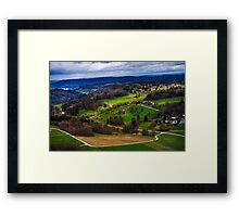 Aerial View of the Hills Near Zurich Framed Print