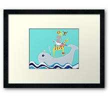 Whale taxi Framed Print