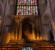 West Door and Window Norwich Cathedral by Fraser Ross