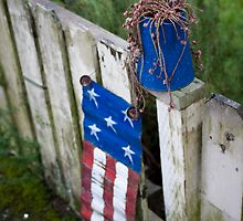 a folk art flag by pmacimagery