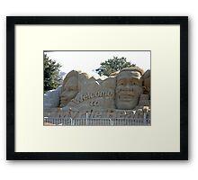 Presidential Election sandcastle Framed Print