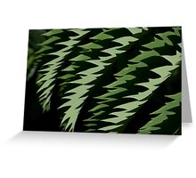 Green Flames Greeting Card