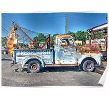 FRESH FISH - OLD TRUCK Poster