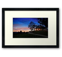 Watching the stars Framed Print