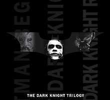 The Dark Knight Trilogy - Villains (Black & White) by jackallum