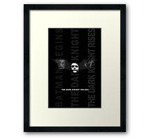 The Dark Knight Trilogy - Villains (Black & White) Framed Print