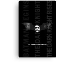 The Dark Knight Trilogy - Villains (Black & White) Canvas Print