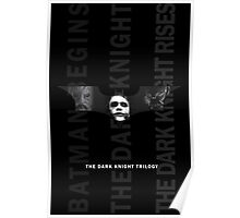 The Dark Knight Trilogy - Villains (Black & White) Poster