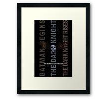 The Dark Knight Trilogy - Villains (Color) Framed Print
