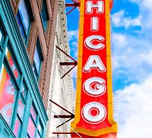 Vintage Chicago Theater Sign by Mark Tisdale