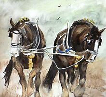 Shire Horses by BellaBees