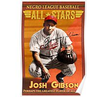 Josh Gibson All-Star Baseball Card Poster