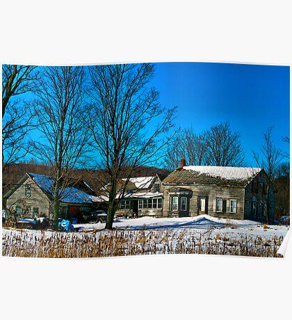 Rural Fairfax Farm House Poster