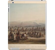 encampment-of-the-piekann-indians-plate-43-from-volume-2-of-travels-in-the-interior-of-north-1844 iPad Case/Skin