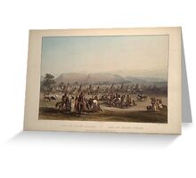 encampment-of-the-piekann-indians-plate-43-from-volume-2-of-travels-in-the-interior-of-north-1844 Greeting Card