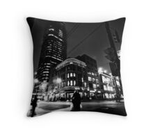 Downtown Nights  Throw Pillow
