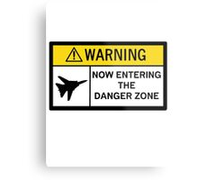 Danger Zone - Warning Metal Print