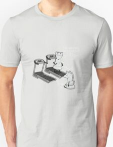 Walking in a straight line Unisex T-Shirt