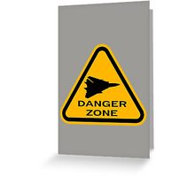 Danger Zone - Triangle 2 Greeting Card