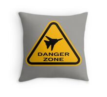 Danger Zone - Triangle Throw Pillow