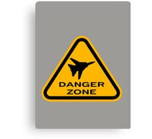 Danger Zone - Triangle Canvas Print